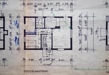 Erdgeschoss mit Leichtbauwand zwischen Küche und EZ